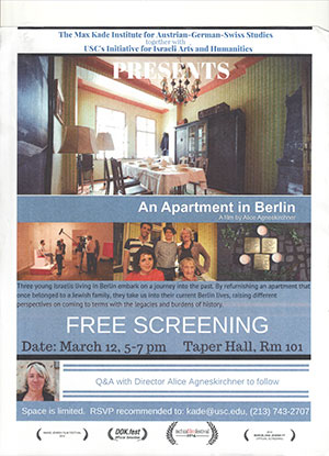"Screening of ""An Apartment in Berlin,"" a film by Alice Agneskirchner"