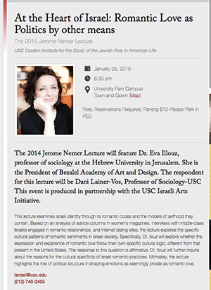 The 2015 Jerome Nemer Lecture