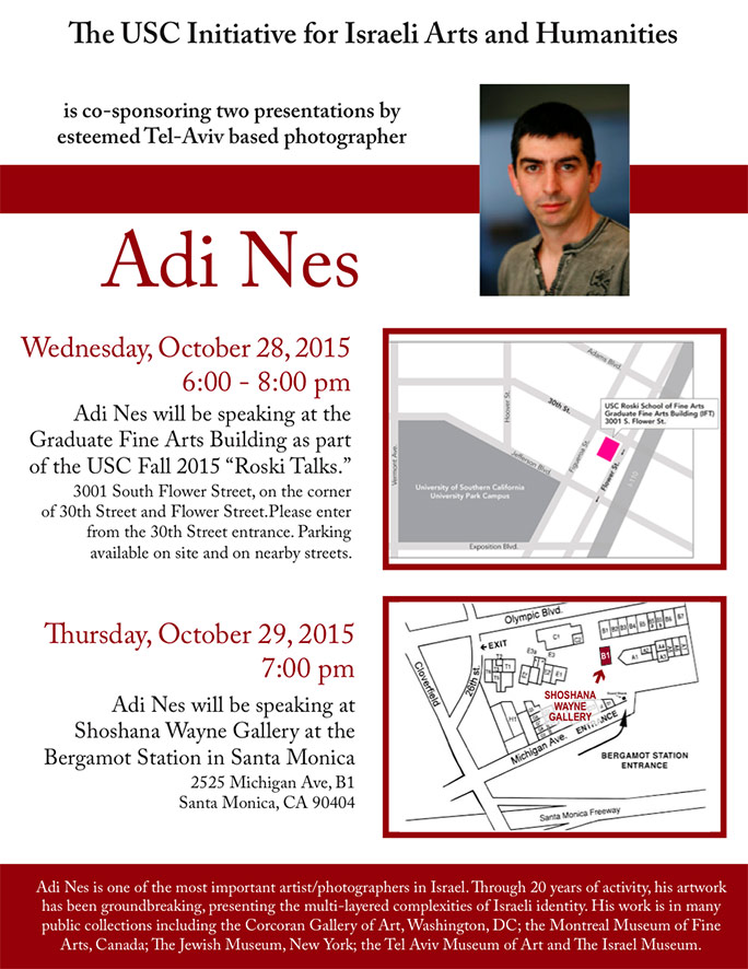 Two events with Adi Nes